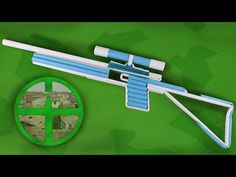 How To Make a Paper Sniper Rifle that Shoots - YouTube