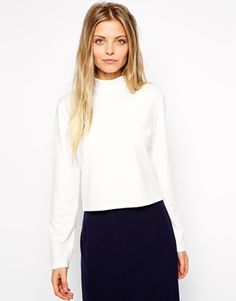 ASOS Turtleneck Top in Ponti