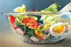 Dutch artist Tjalf Sparnaay has painting food since These are not, however, your regular run of the mill paintings. Tjalf Sparnaay says: I hope my paintings will allow the viewer to re-experience reality, to re-discover the Art Hyperréaliste, Tjalf Sparnaay, Hyperrealistic Art, Hyper Realistic Paintings, Creation Photo, Food Painting, Dutch Painters, Dutch Artists, Famous Artists