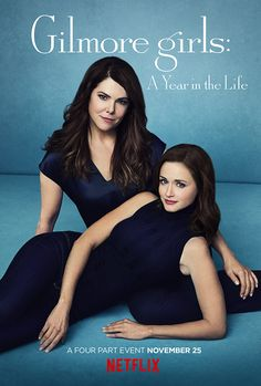 What Time Does 'Gilmore Girls: A Year in the Life' Premiere on Netflix?: Photo Gilmore Girls: A Year in the Life is almost here! Written, directed and executive produced by series creator Amy Sherman-Palladino, the highly-anticipated revival… Rory Gilmore, Gilmore Girls Poster, Gilmore Girls Netflix, Gilmore Girls 2016, Stars Hollow, Amy Sherman Palladino, Life Trailer, Girlmore Girls, Teen Trends