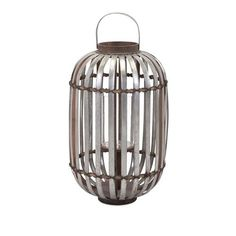Logan Grey Large Galvanized Lantern Imax Indoor Candle Lanterns Candle Lanterns Home Decor