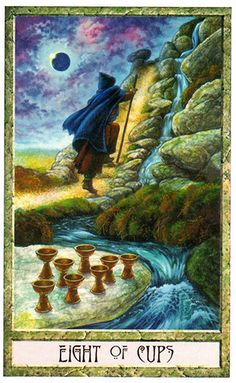 Tarot Card of the Week: Eight of Cups · This week's card is the Eight of Cups from the Druid Craft Tarot created by Stephanie Carr-Gomm, Philip Carr-Gomm and Will Worthington. (more)...