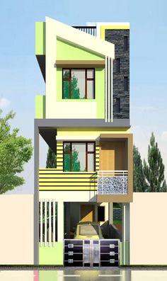 House Balcony Design, House Outer Design, 3 Storey House Design, Modern Small House Design, House Outside Design, House Design Photos, Bungalow House Design, House Front Design, Indian House Plans