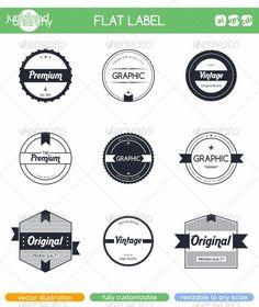 Flat Label Sticker