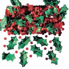 Christmas Confetti | Holly and Berries Table Confetti From UK Christmas Shop Online