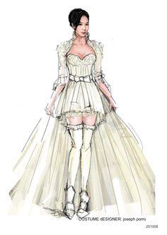 Speed Angels.  Wedding dress for Rene Liu. #josephporrodesigns