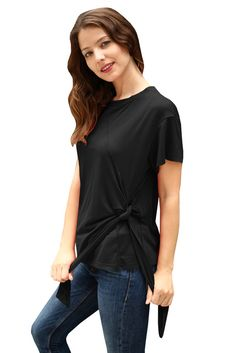 3bc51fee2c4c30 Sexy o neck cotton tops women Casual sash short sleeve tshirt 2018 New  Arrival Elastic summer