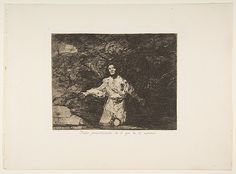 Goya (Francisco de Goya y Lucientes) | Plate1 from 'The Disasters of War' (Los Desastres de la Guerra): Sad foreboding of what is going to happen (Tristes presentimientos de lo que ha de acontecer.) | The Met
