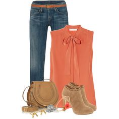 """""""Just Peachy"""" by staciegh on Polyvore"""