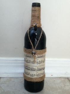 Bottiglia - note musicali