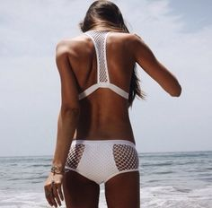 Trends swimwear 2015 are inspired to the with high waist to tropical glam patterns, to crochet swimsuits. Bikini or one piece the rule is to be chic. Beach Wear, Beach Babe, Lingerie, Cooler Look, The Bikini, Sporty Bikini, Summer Of Love, Summer 2015, Monokini