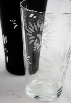Easy glass etching.  Use your die cutting machine of choice or hand cut the vinyl.  BalzerDesigns