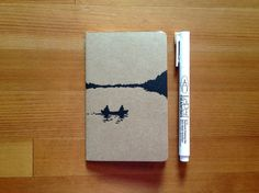 *NEW* Canoe Lake Jotter by WoodenSpoonEditions on Etsy, $8.00