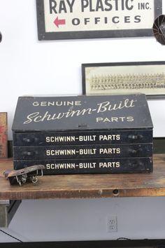 Schwinn parts cabinet