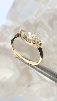 Modern Wedding Rings, Modern Engagement Rings, Beautiful Engagement Rings, Alternative Engagement Rings, Beautiful Rings, Diamond Engagement Rings, Marquise Diamond Rings, Unique Diamond Rings, Vintage Diamond Rings