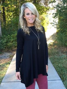 Falling In Love Tunic - Black
