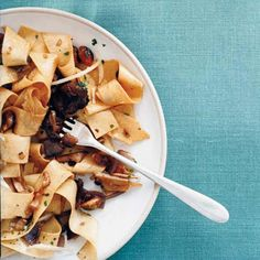 """Pappardelle with Porcini and Pistachios 