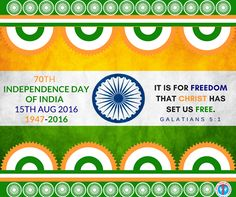 70th Independence Day of India 15th Aug 2016  1947 - 2016 A salute to freedom fighters