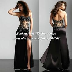 Ssexy See Through Prom Dresses Black Celebrity Beaded Corset Ball Gown Sweetheart Beaded SI433 on AliExpress.com. 6% off $135.05