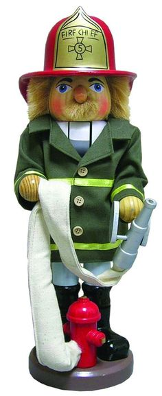 6319.1 Fire Chief Nut Cracker w/ Hose Chicago Fire Department and Chicago Police Department gifts.