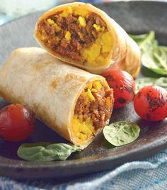 Burrito de carne con queso