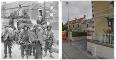 Commandos  Servizio brigata speciale, della  6 ° divisione aviotrasportata a Bénouville dopo il collegamento tra le due forze, Pegasus Bridge 6 giugno 1944. #NORMANDIA1944  #PEGASUSBRIDGE