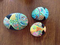 DIY fish painted rocks!