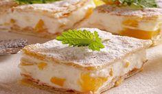 Kukkonia tvarohovo-broskyňový koláč z lístkového cesta