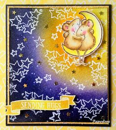 Yenni Paper Love Sending Hugs, Cool Backgrounds, Penny Black, Card Making, About Me Blog, Supply List, Stamp, Love, Paper
