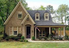 Plan W30703GD: Photo Gallery, Cottage, Traditional, Country, Narrow Lot, European House Plans & Home Designs - just add a garage