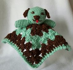 Check out this item in my Etsy shop https://www.etsy.com/listing/288018963/chocolate-mint-baby-blanket-buddy