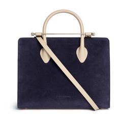 a622b7f207a Strathberry 'The Strathberry Midi' suede and leather tote (163,405 MYR) ❤  liked. Lederen TassenSuède ...