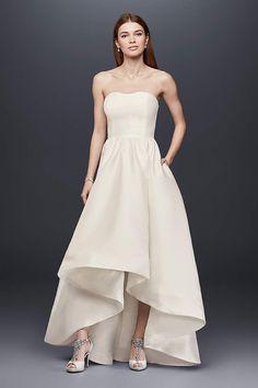View Strapless High Low Wedding Dress at David's Bridal