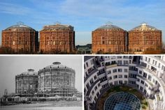 Vienna's 'Gasometer' Boasts Four Former Gas Bells Transformed into an Indoor Urban Village