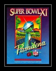 1977 Super Bowl XI Program Cover Art Poster. In Super Bowl XI on January 9, 1977, the Oakland Raiders defeated the Minnesota Vikings 32-14, behind the stellar play of MVP Fred Biletnikoff. Here's a poster of the cover art from that game day program. Details High-quality photographic print Printed on heavyweight satin photo paper Ready to frame Great gift idea Made in the U.S.A. Available in 3 sizes Choice of black or white border Buy with confidence. I stand behind everything I sell. If you are
