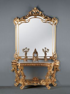 Baroque style console, Carved consoles, Luxury console Entrance Art. B-2012