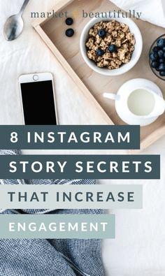 8 Story Secrets that Increase Engagement // Market Beautifully -- Belle Photo Instagram, Instagram Feed, Tips Instagram, Instagram Marketing Tips, Instagram Story, First Instagram Post, Instagram Design, Social Media Trends, Social Media Plattformen
