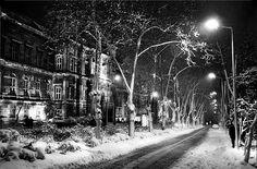 İstanbul'a gene kar geliyor... 1970'lerde Maçka'da karlı bir gece..(İTÜ Maden Fakültesi)