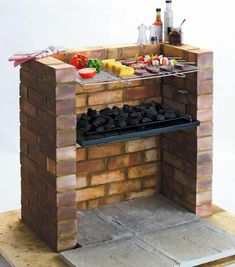 Designed to be built into a brick stand this BBQ comes with the cooking grill and charcoal shelf and will be a permanent feature in your garden. Constructed from steel. Overall size H6, W67.5, D39.5cm. Size of cooking area 36 x 62cm. Bricks not included. Weight 3.8kg. Packed flat.