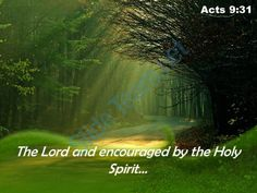 acts 9 31 the lord and encouraged powerpoint church sermon Slide01  http://www.slideteam.net/