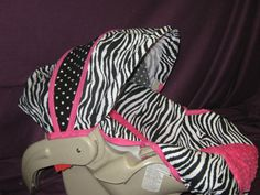 Hot Pink Zebra Graco Snugride Car Seat Cover and by NannysBabies, $39.99
