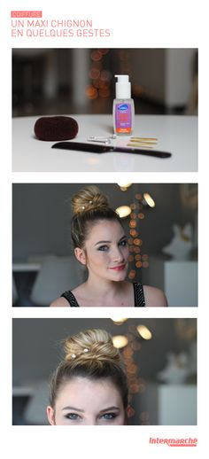 Le maxi-chignon est une coiffure élégante très prisée par les stars. Nos conseils pour un chignon parfait : 1/ Faites une queue de cheval haute  2/ Glissez ensuite un bun et le recouvrir avec vos cheveux 3/ Torsadez 2 mèches puis fixez-les autour du chignon grâce à des pinces plates.  4/ Décorez le chignon avec de jolies pinces à strass  #FestivalDeCannes#Beauté #MakeUp #HowTo #Labell #Intermarché