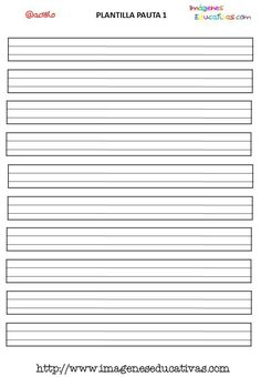 Lines Writing Template  Lined Paper    Template