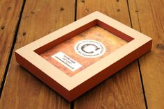 by CottonwoodWorkshop 5x7 Frames, Little Greene, Wooden Picture Frames, Paint Schemes, Frame It, Light Orange, Brown And Grey, Clear Glass, Etsy Store