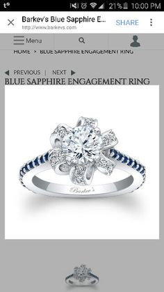 Blue Sapphire Engagement Ring - someday