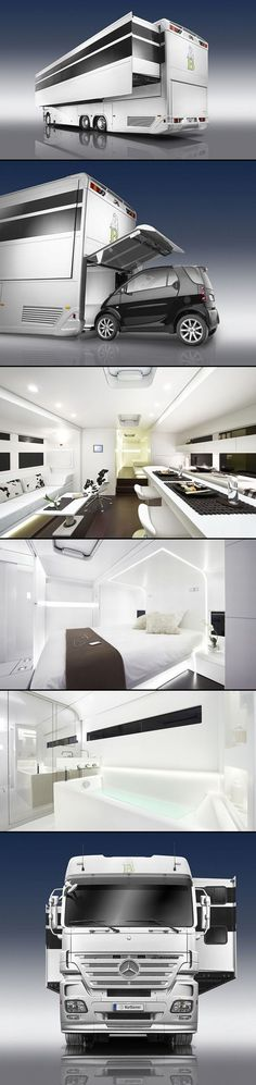 A-Cero's Mercedes Benz luxury caravan - I could really travel in this.