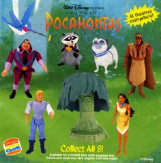 Pocahontas (1995) | The 11 Most Memorable Burger King Kids Club Toys Of The '90s