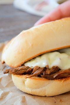 Crockpot French Dip Sandwiches with Homemade Au Jus Slow Cooker Recipes, Crockpot Recipes, French Dip, Salted Butter, Easy Dinner Recipes, Dinner Ideas, Sandwich Recipes, Hot Dog Buns, Dips