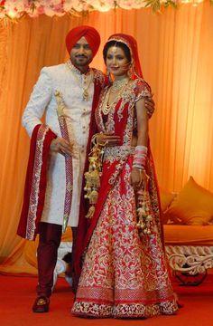 Three days after their grand wedding in Jalandhar, Harbhajan Singh and Geeta Basra will