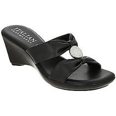 eee0238aa523 Medina H-Band Wedge Sandals - Black Black Wedge Sandals